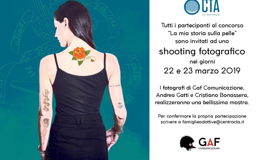 Shooting fotografico – La mia storia sulla pelle