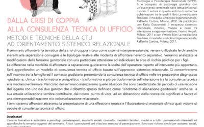Dalla crisi di coppia alla consulenza tecnica d'ufficio – seminario per operatori con Dino Mazzei
