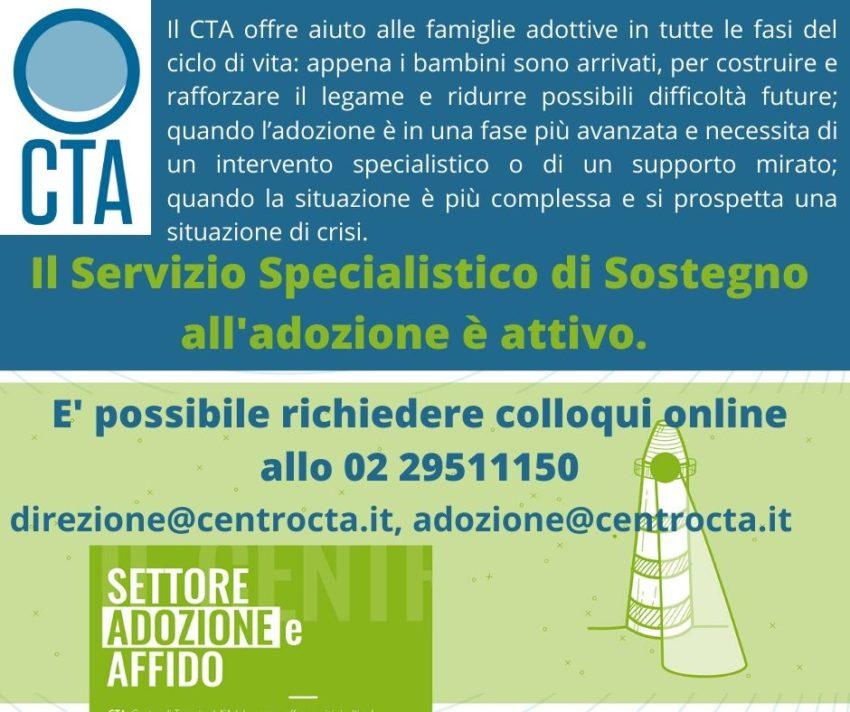 Servizio Specialistico di Sostegno all'adozione e presa in carico delle crisi adottive – anche online