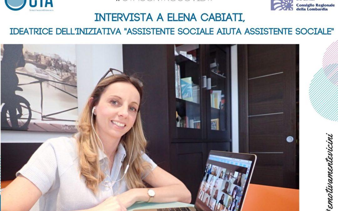 "Intervista a Elena Cabiati sui gruppi ""Assistente sociale aiuta assistente sociale"""