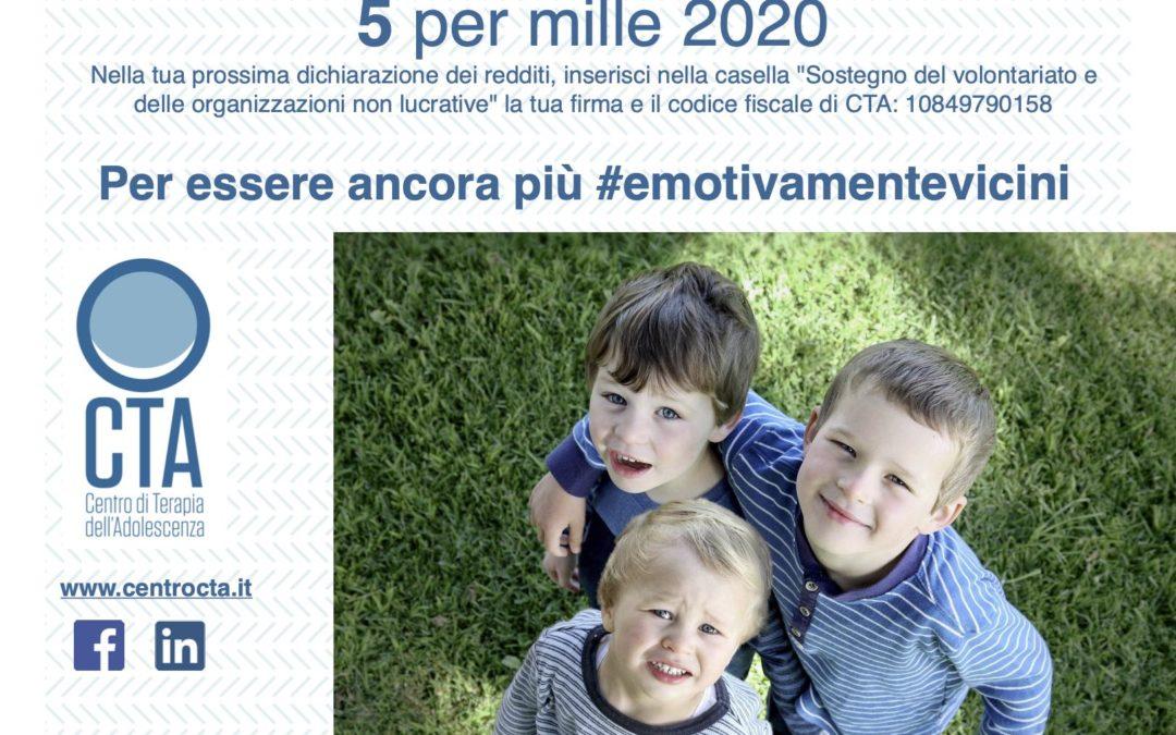 5 per mille 2020 al CTA – Per essere ancora più #emotivamentevicini ai BAMBINI  e alle loro FAMIGLIE