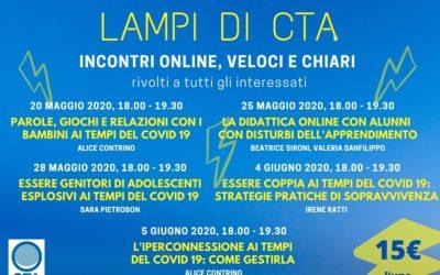 LAMPI DI CTA – Incontri online veloci e chiari per affrontare tanti diversi temi utili