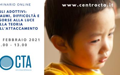 Seminario online Figli adottivi: traumi, difficoltà e risorse alla luce della teoria dell'attaccamento