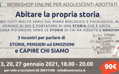 Workshop online per adolescenti adottivi ABITARE LA PROPRIA STORIA – CTA