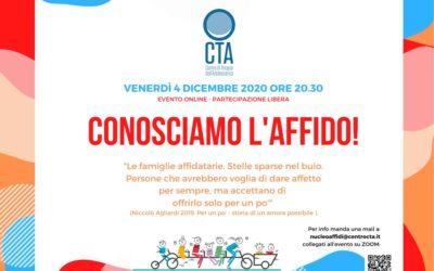 Conosciamo l'affido – 4 dicembre 2021 – evento online partecipazione libera-