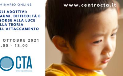 SEMINARIO Figli adottivi: traumi, difficoltà e risorse alla luce della teoria dell'attaccamento, con Sara Marseglia