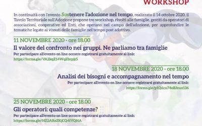 WORKSHOP Sostenere l'adozione nel tempo – Tavolo Territoriale Adozione