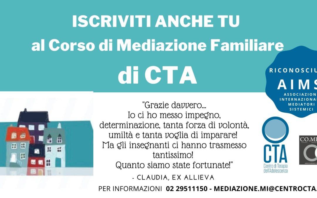 Aperte le iscrizioni al corso biennale di mediazione familiare di CTA