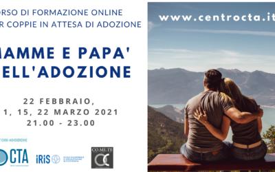 Corso online per coppie in attesa di adozione MAMME E PAPA' NELL'ADOZIONE